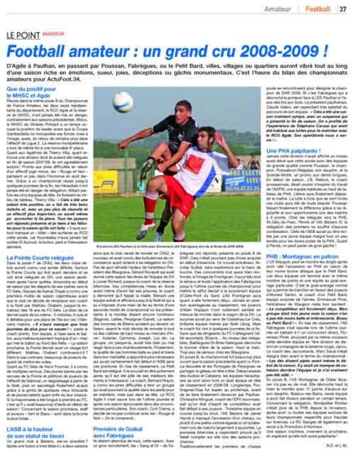Bilan football amateur héraultais 2009/09