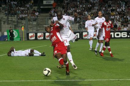 Au match aller (défaite 0-2), Camara et les Montpelliérains avaient souffert face aux Messins (photo N. Deltort)