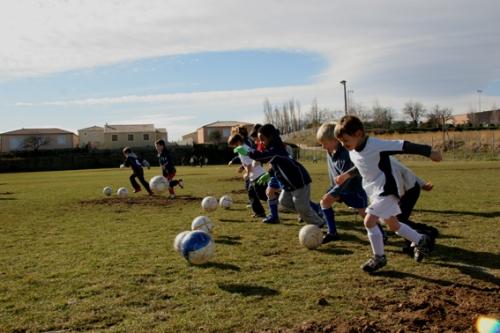 Les poussins de Servian débutent leur entraînement (photo N. Deltort)