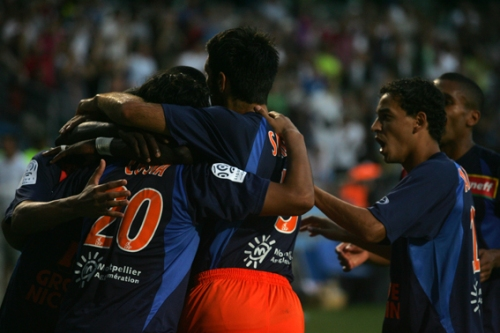 MHSC - Sochaux, but de Costa (photo N. Deltort)