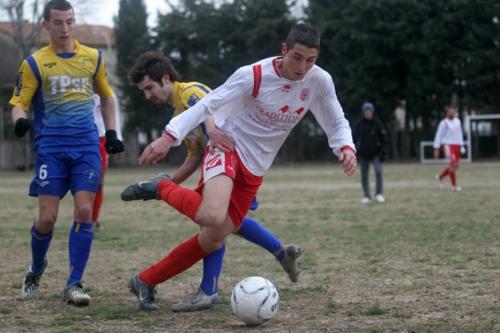 Rémy avec le FC Nébian en Promotion de 1ère division de District (photo N. Deltort)