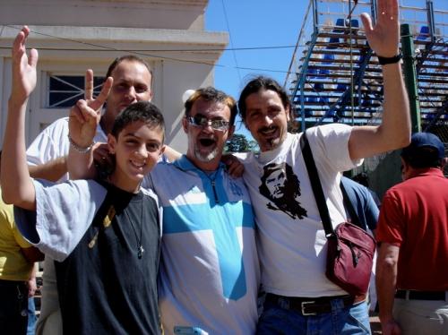 Argentins avant un match a Gimnasia La Plata